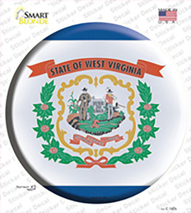 West Virginia State Flag Wholesale Novelty Circle Sticker Decal