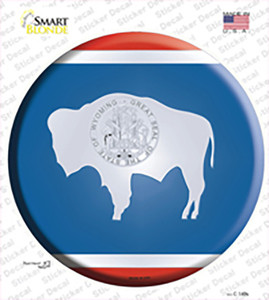 Wyoming State Flag Wholesale Novelty Circle Sticker Decal