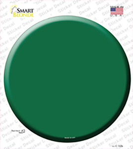 Green Wholesale Novelty Circle Sticker Decal