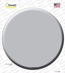 Gray Wholesale Novelty Circle Sticker Decal