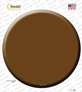 Brown Wholesale Novelty Circle Sticker Decal
