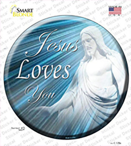 Jesus Loves You Wholesale Novelty Circle Sticker Decal
