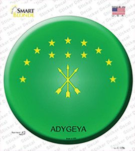 Adygea Country Wholesale Novelty Circle Sticker Decal
