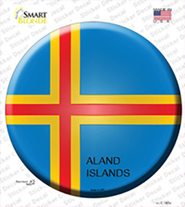Aland Islands Country Wholesale Novelty Circle Sticker Decal