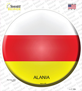 Alania Country Wholesale Novelty Circle Sticker Decal