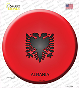 Albania Country Wholesale Novelty Circle Sticker Decal