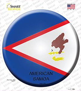 American Samoa Country Wholesale Novelty Circle Sticker Decal