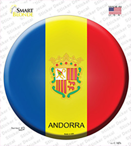 Andorra Country Wholesale Novelty Circle Sticker Decal