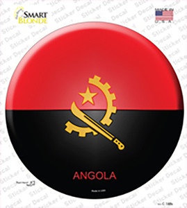Angola Country Wholesale Novelty Circle Sticker Decal