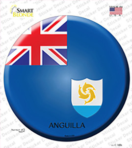 Anguilla Country Wholesale Novelty Circle Sticker Decal