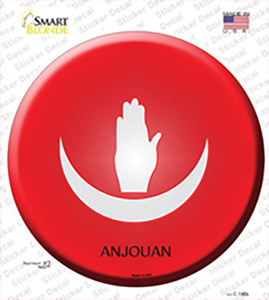 Anjouan Country Wholesale Novelty Circle Sticker Decal