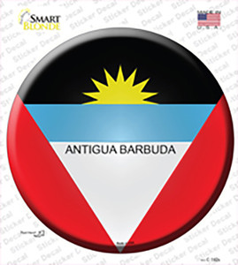Antigua Barbuda Wholesale Novelty Circle Sticker Decal