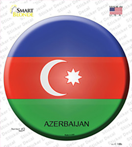 Azerbaijan Country Wholesale Novelty Circle Sticker Decal