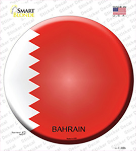 Bahrain Country Wholesale Novelty Circle Sticker Decal