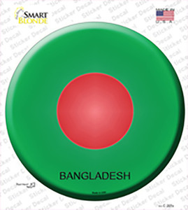 Bangladesh Country Wholesale Novelty Circle Sticker Decal