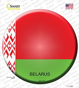Belarus Country Wholesale Novelty Circle Sticker Decal