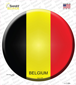 Belgium Country Wholesale Novelty Circle Sticker Decal