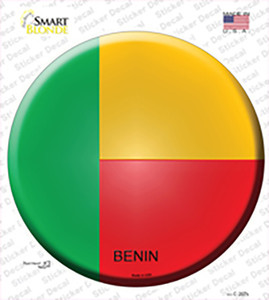 Benin Country Wholesale Novelty Circle Sticker Decal