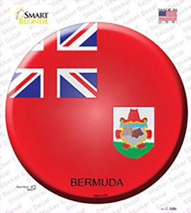 Bermuda Country Wholesale Novelty Circle Sticker Decal