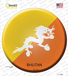 Bhutan Country Wholesale Novelty Circle Sticker Decal