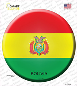 Bolivia Country Wholesale Novelty Circle Sticker Decal