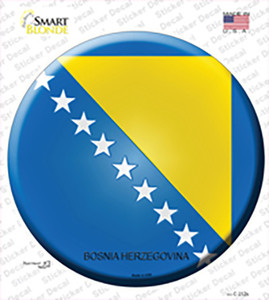 Bosnia Herzegovina Country Wholesale Novelty Circle Sticker Decal