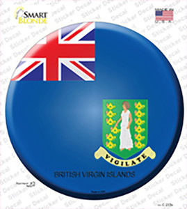 British Virgin Islands Country Wholesale Novelty Circle Sticker Decal
