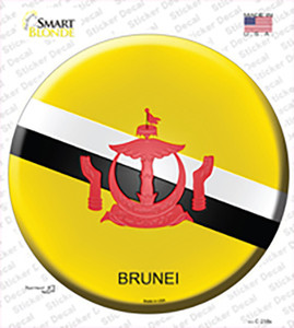 Brunei Country Wholesale Novelty Circle Sticker Decal