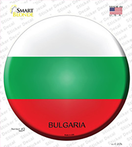 Bulgaria Country Wholesale Novelty Circle Sticker Decal