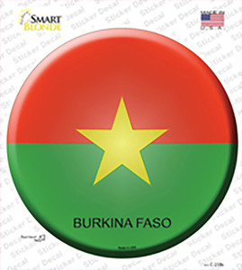 Burkina Faso Country Wholesale Novelty Circle Sticker Decal