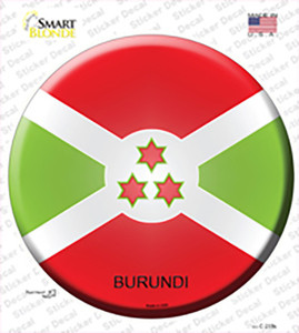 Burundi Country Wholesale Novelty Circle Sticker Decal
