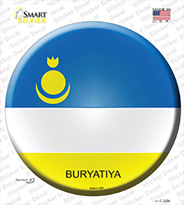 Buryatiya Country Wholesale Novelty Circle Sticker Decal