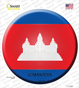 Cambodia Country Wholesale Novelty Circle Sticker Decal