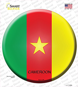 Cameroon Country Wholesale Novelty Circle Sticker Decal