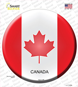 Canada Country Wholesale Novelty Circle Sticker Decal
