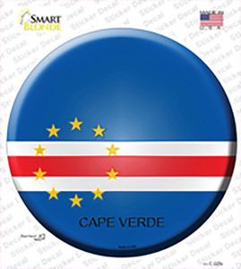 Cape Verde Country Wholesale Novelty Circle Sticker Decal