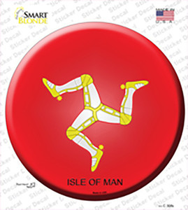 Isle Of Man Country Wholesale Novelty Circle Sticker Decal