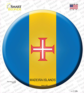 Madeira Islands Country Wholesale Novelty Circle Sticker Decal