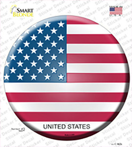 United States Country Wholesale Novelty Circle Sticker Decal