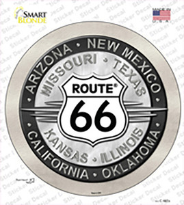 Route 66 States Wholesale Novelty Circle Sticker Decal