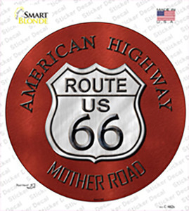 Route 66 American Highway Wholesale Novelty Circle Sticker Decal