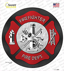 Firefighter Wholesale Novelty Circle Sticker Decal