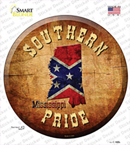 Southern Pride Mississippi Wholesale Novelty Circle Sticker Decal