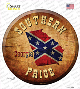 Southern Pride Georgia Wholesale Novelty Circle Sticker Decal