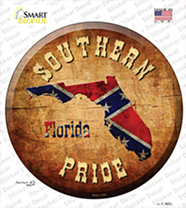 Southern Pride Florida Wholesale Novelty Circle Sticker Decal