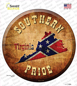 Southern Pride Virginia Wholesale Novelty Circle Sticker Decal