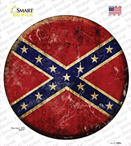 Confederate Flag Wholesale Novelty Circle Sticker Decal