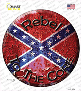 Rebel To The Core Wholesale Novelty Circle Sticker Decal