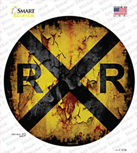 Vintage Railroad Crossing Wholesale Novelty Circle Sticker Decal