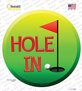 Hole In One Wholesale Novelty Circle Sticker Decal